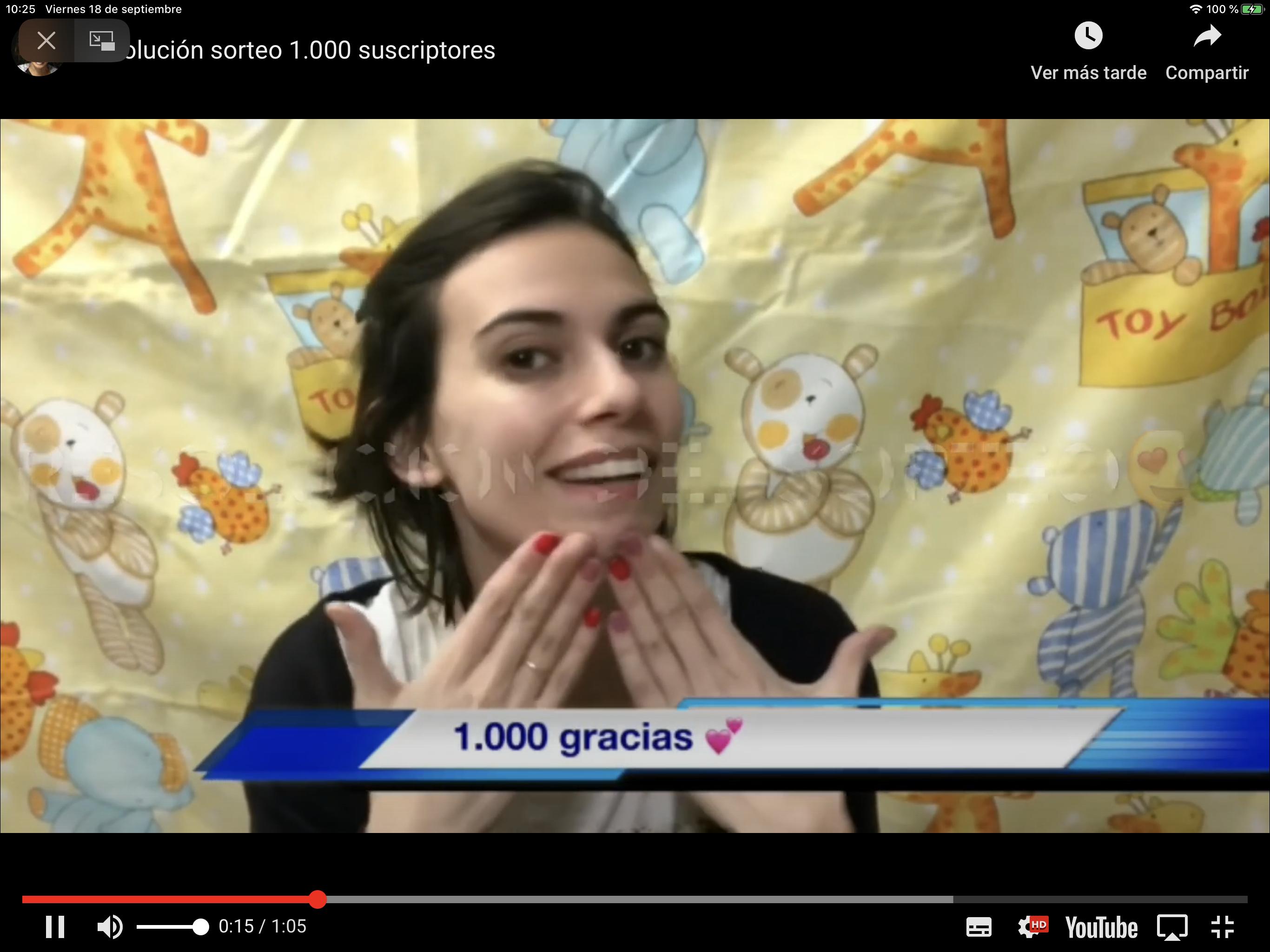 Resultado sorteo: 1000 YouTube